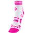 Compressport Racing V2 Run High Socks White/Pink